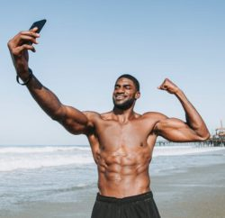"""<img src= """"fit man taking a selfie.jpg"""" alt=""""how to eat and lose weight fast""""/>"""